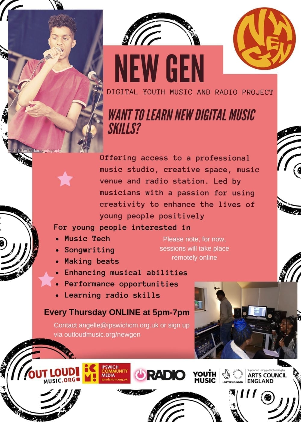 Information about New Gen, youth music group for under 20s in Ipswich on Zoom