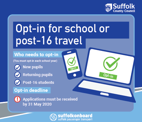 Opt in for school travel of post-16 travel