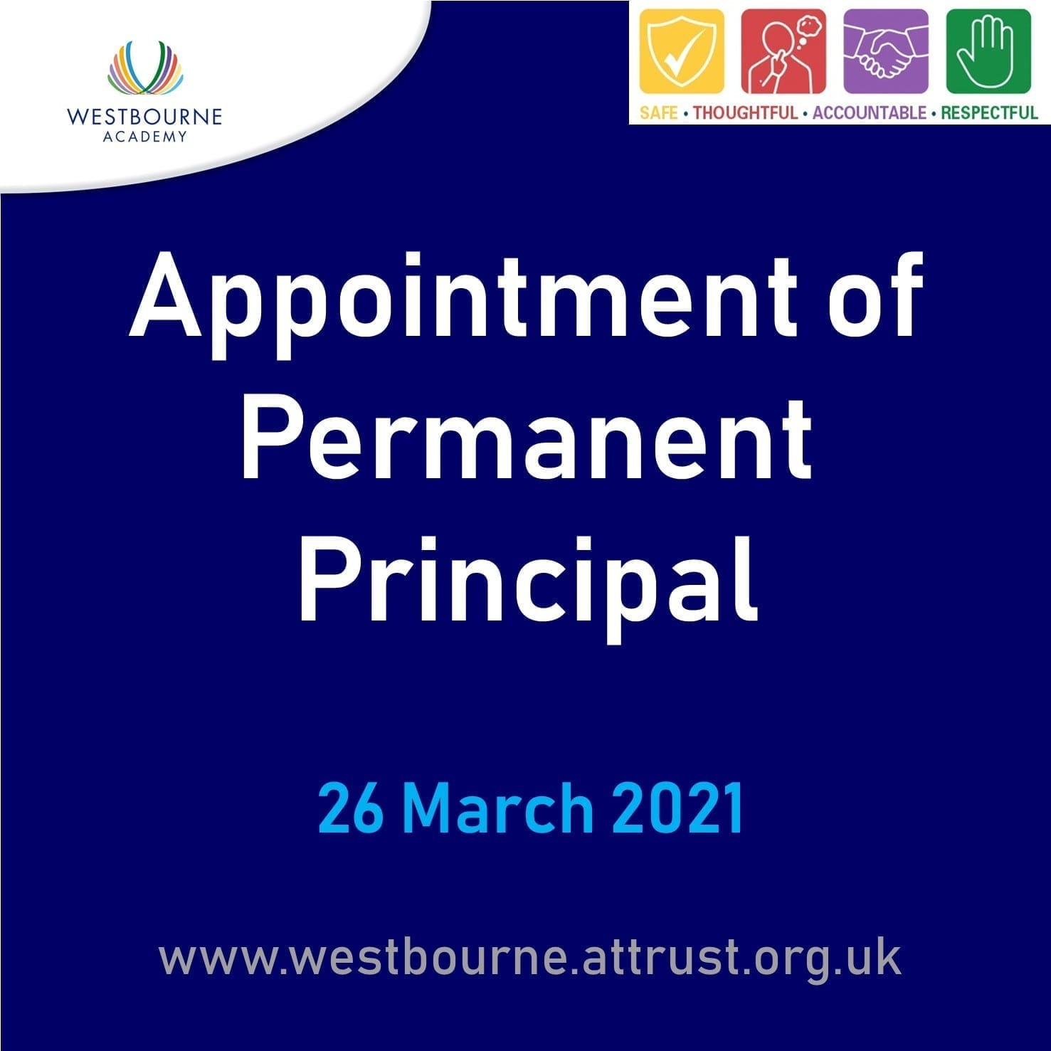 Appointment of Permanent Principal 26 March 2021