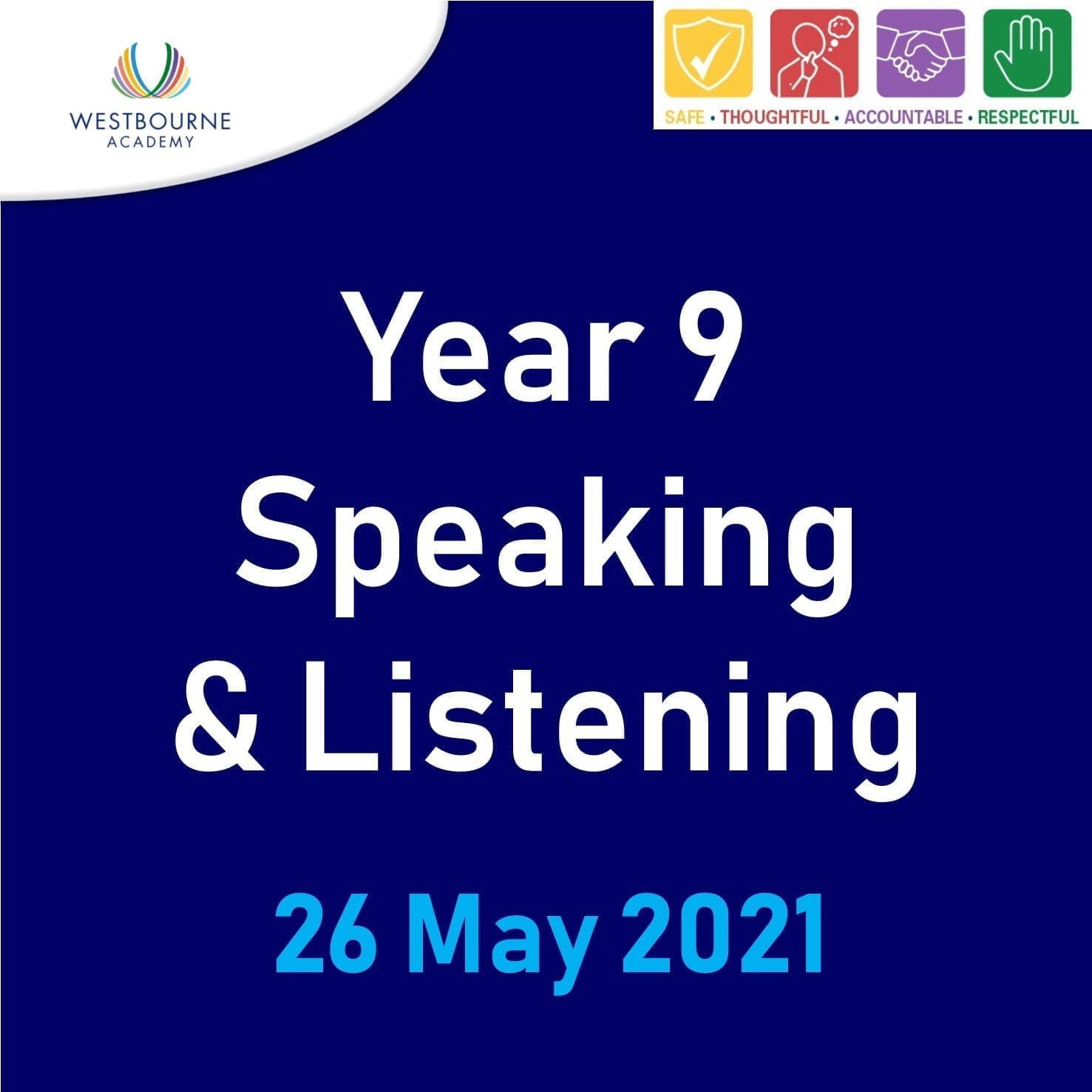 Y9 Speaking and listening 26 May 21