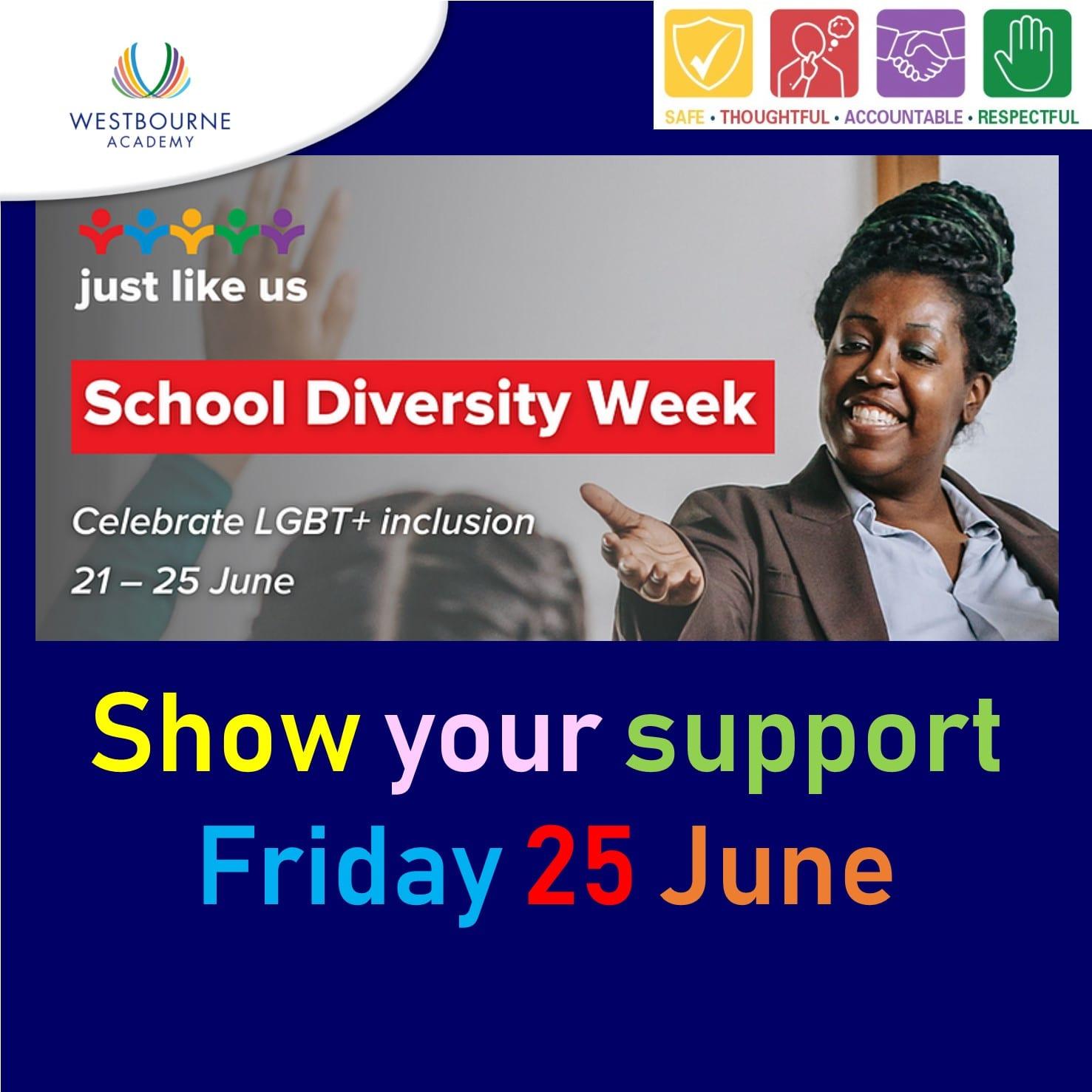 School Diversity Week Friday 25 June