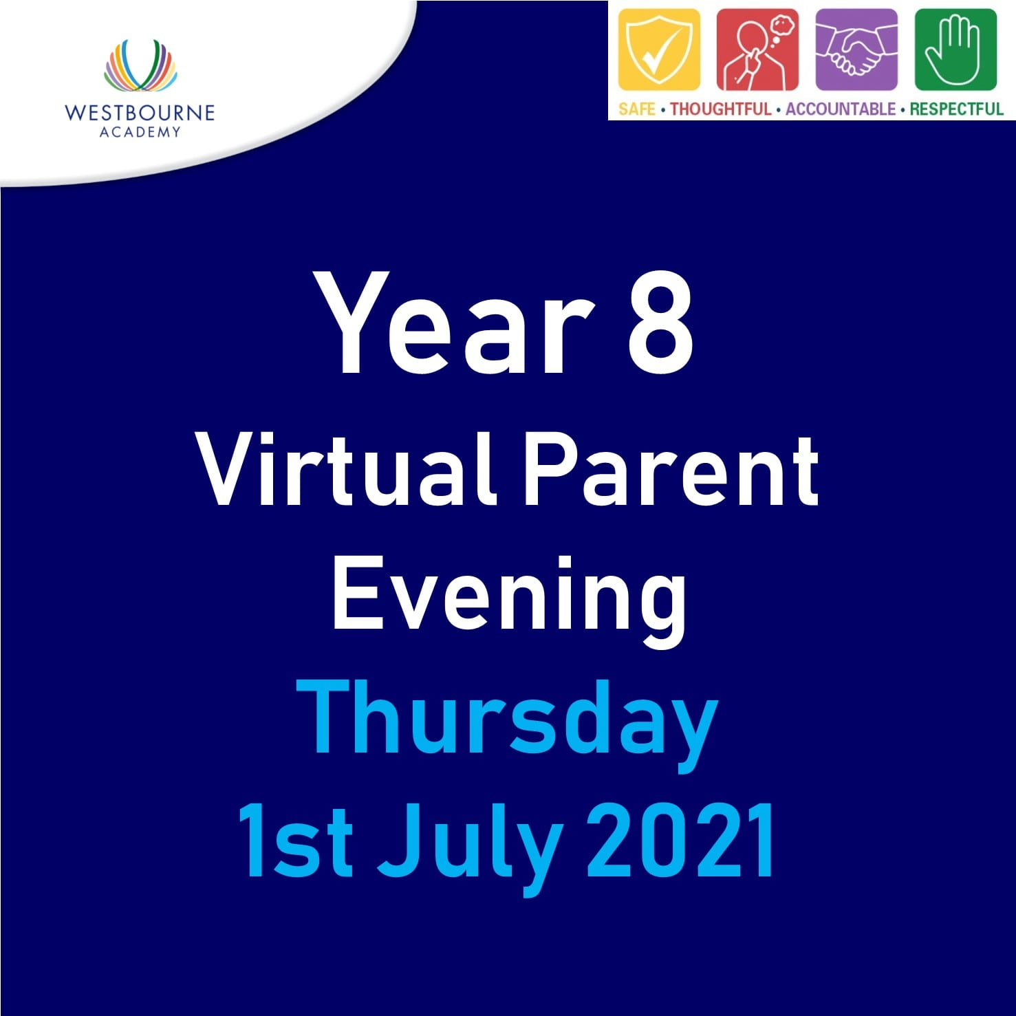 Year 8 Virtual Parent Evening 1st July 2021
