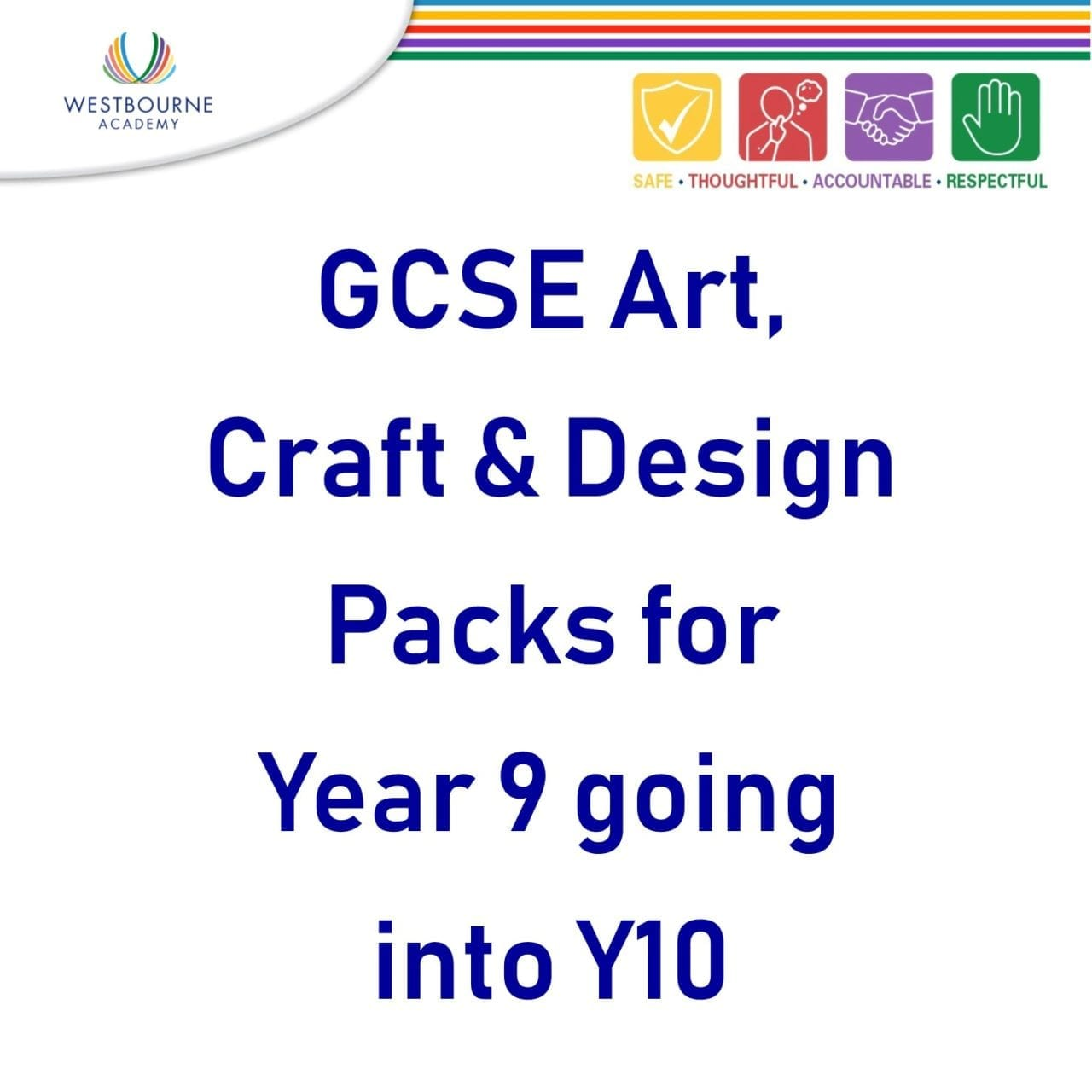 GCSE Art, Craft & Design Packs for Y9 going into Y10