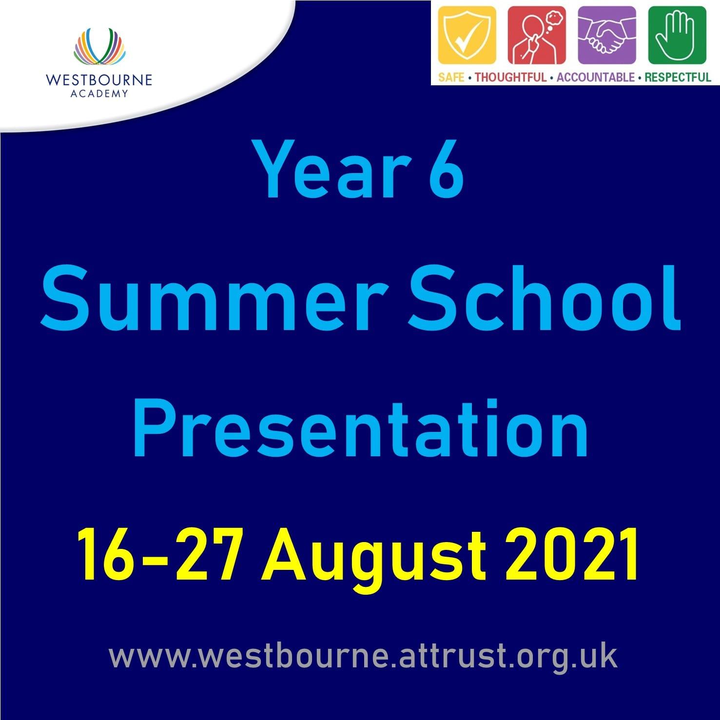 Y6 Summer School Information